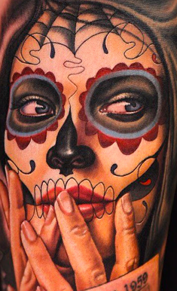 Tatouage Maquillage Santa Muerte