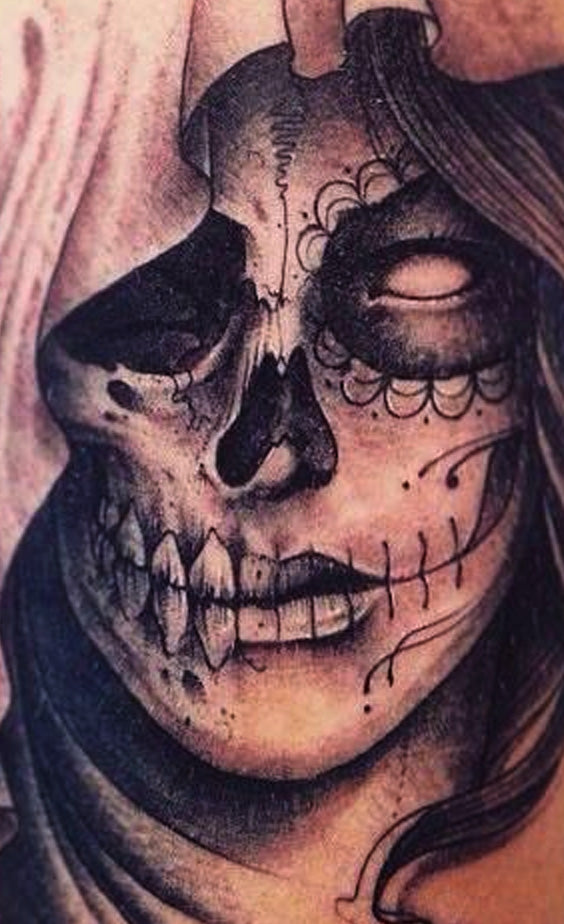 Tatouage Calavera Mexicaine