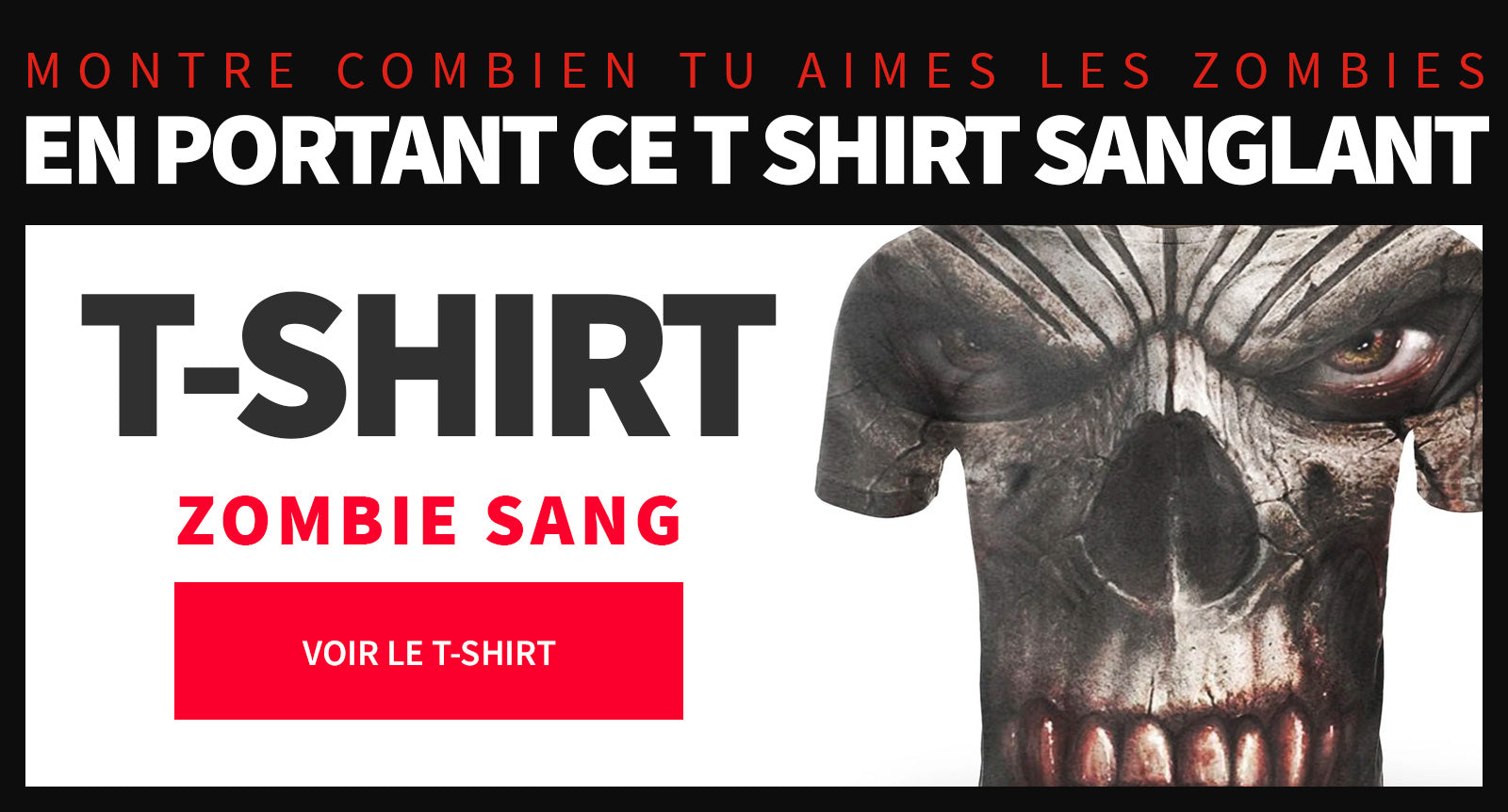 T Shirt homme zombie