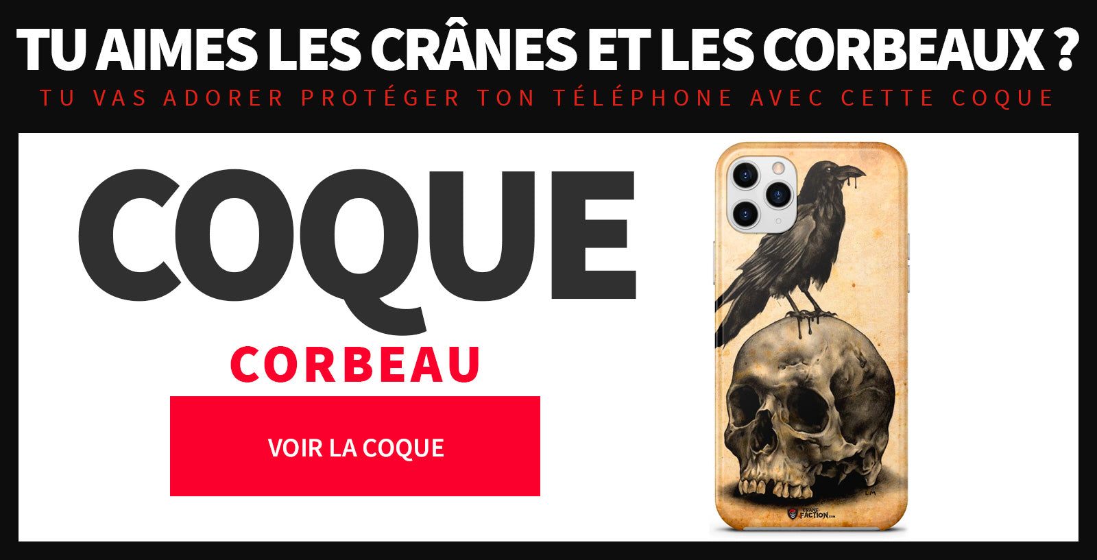 Coque Iphone corbeau
