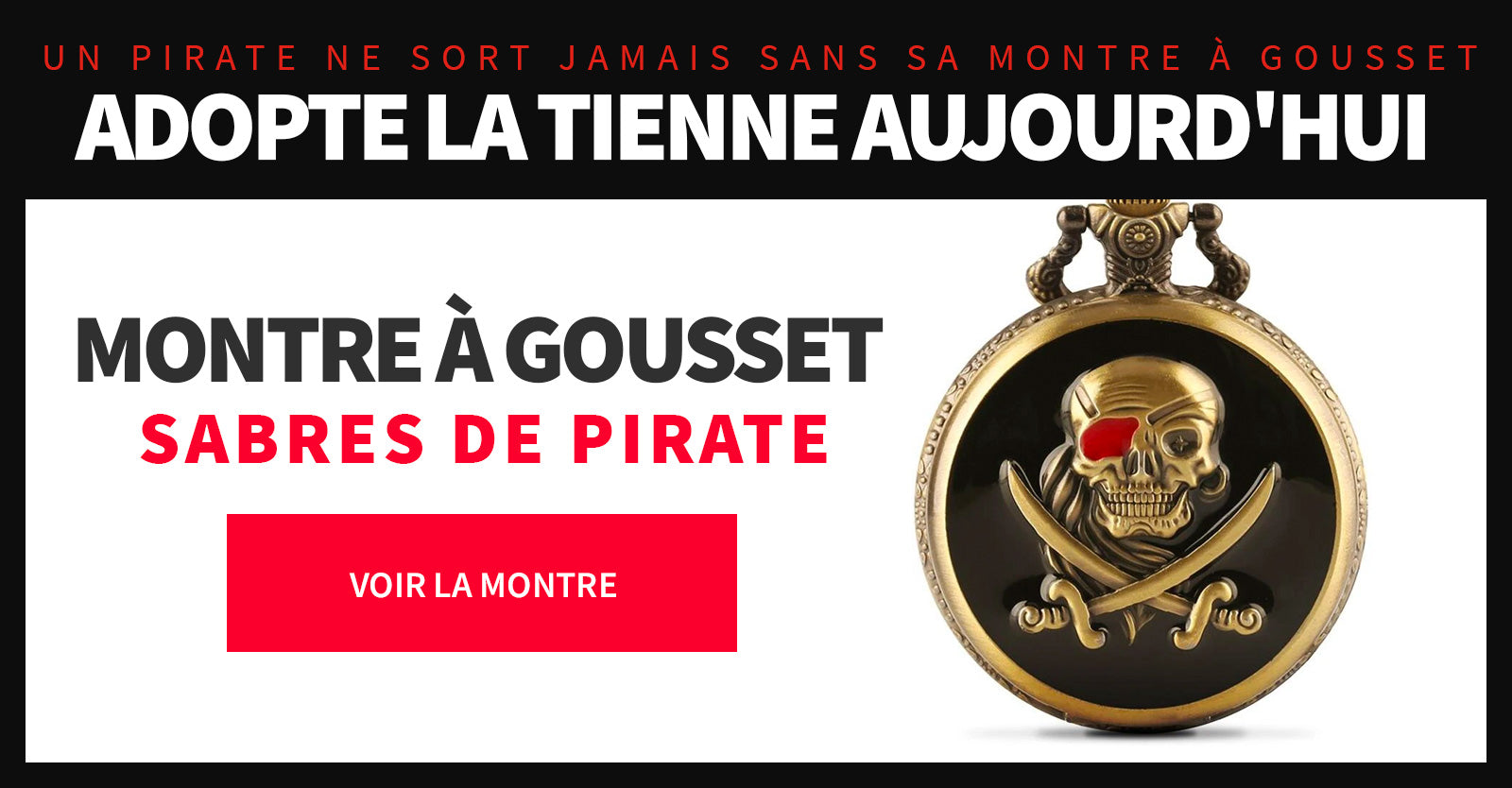 montre pirate tete de mort