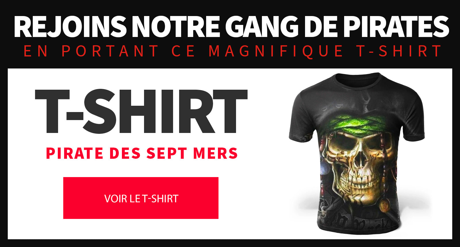 T Shirt de pirate