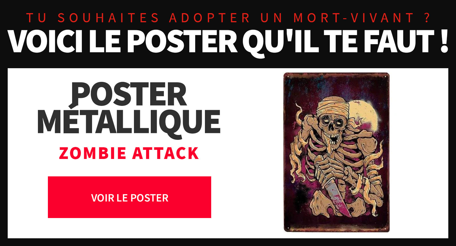 Poster zombie attack