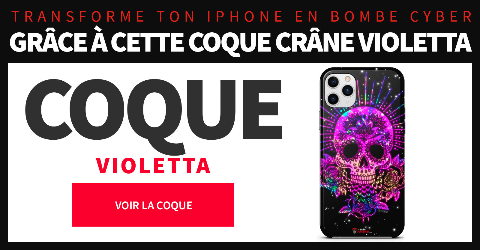 Coque crâne violet Iphone