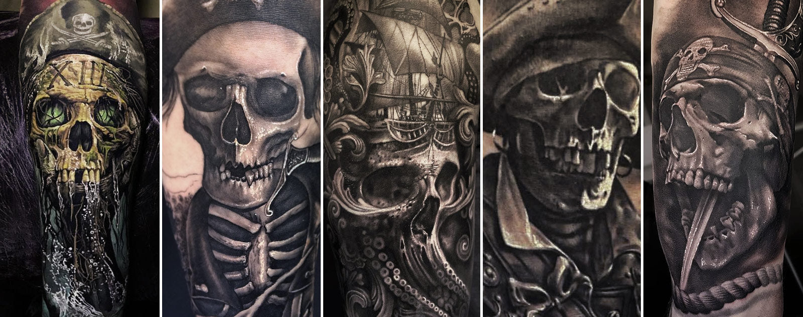 Tatouage Tete de Mort Pirate
