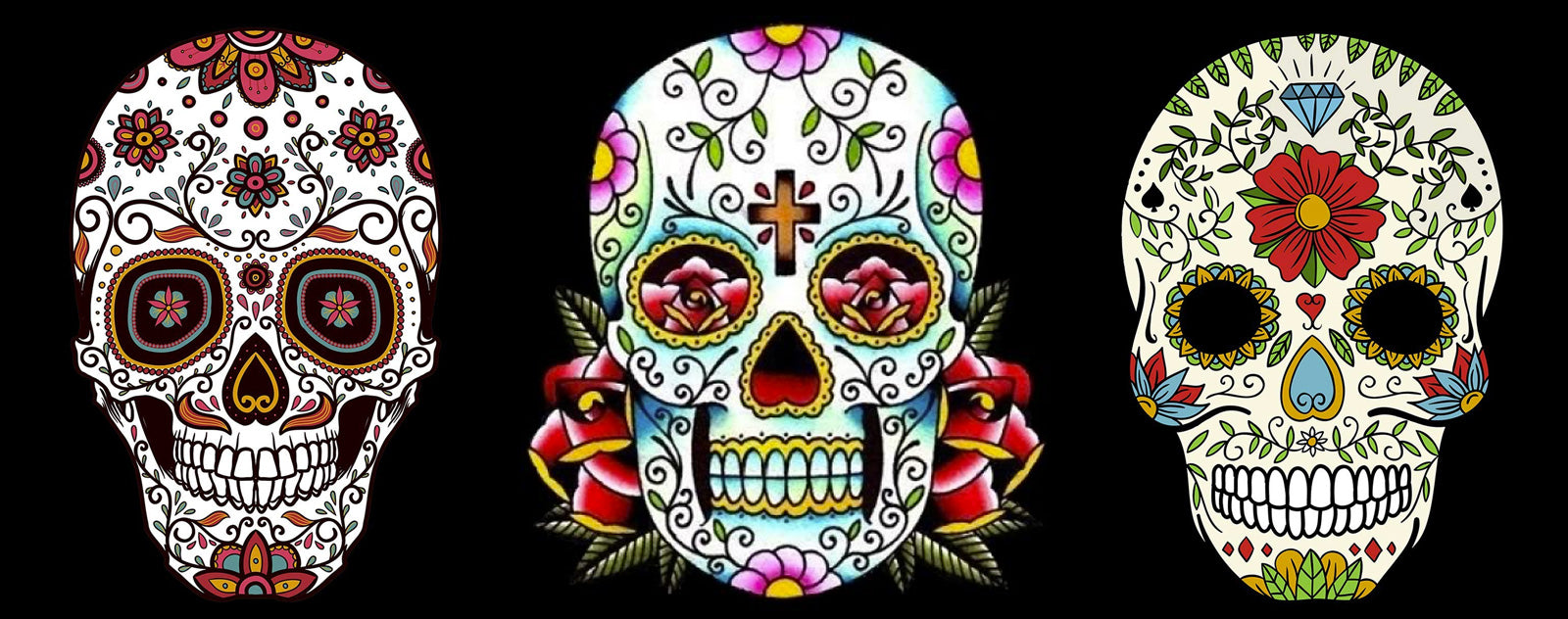 Mexican skull and crossbones decoration