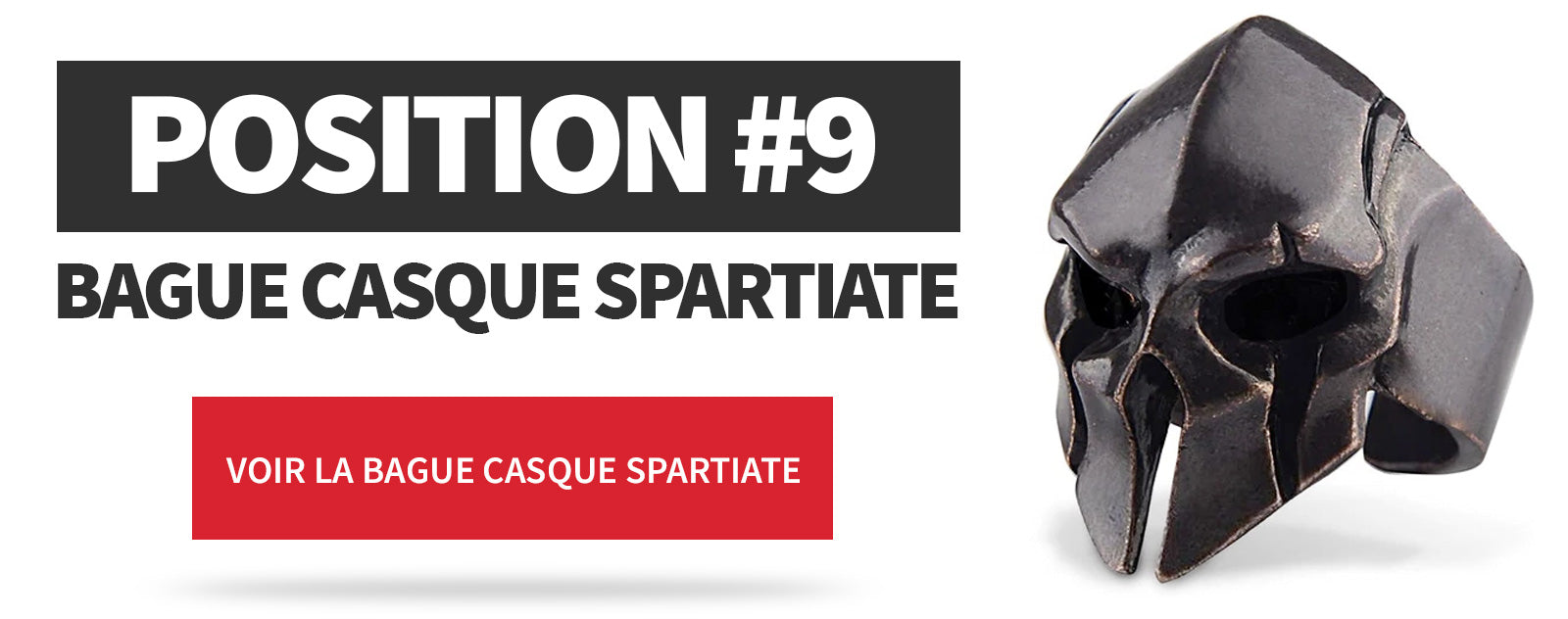 Bague Casque Spartiate