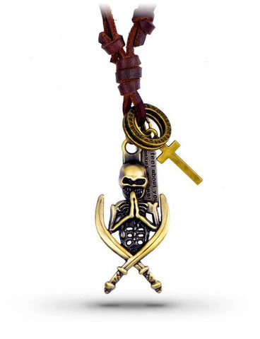 Collier Cuir Pirate