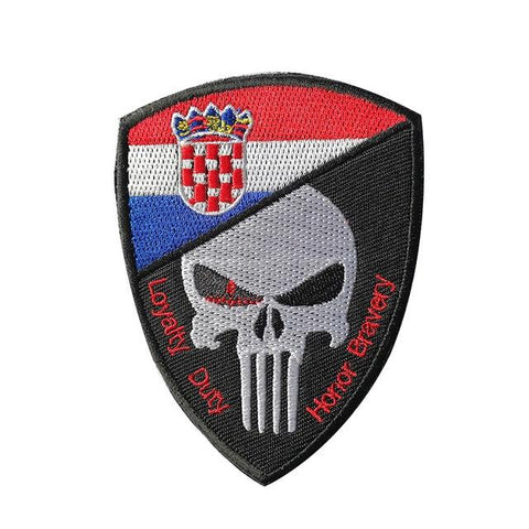 écusson punisher croatie