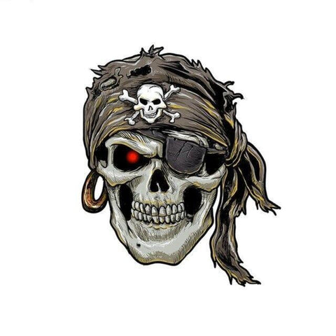 transfert thermocollant tete de mort pirate