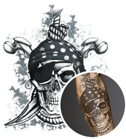 Tatouage Temporaire Pirate