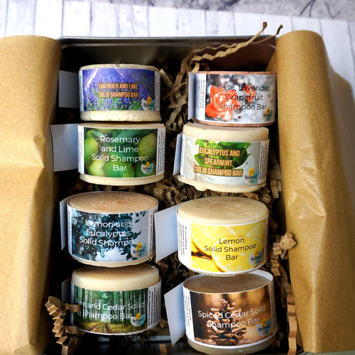 Ultimate Shampoo Collectors Set - All 8 of our shampoo bars plus a large travel tin