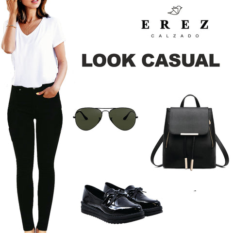 Outfit 2019 back to school zapato de charol negro