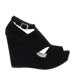 Sandalias wedge negras