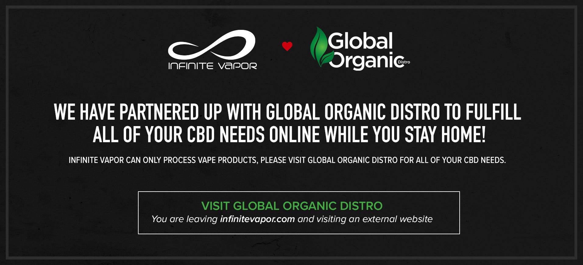CBD Products - Infinite Vapor - Global Organic Distro