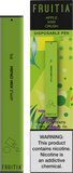 Fruitia Disposable Pen - Apple Kiwi Crush 1.3ML 50mg