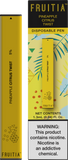 Frutia Disposable Pen - Pineapple Citrus Twist 1.3ML 5% (50mg)