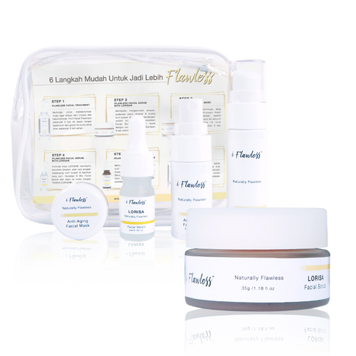 iFlawless Facial Scrub LORISA® + iFlawless Skin Care Trial Set