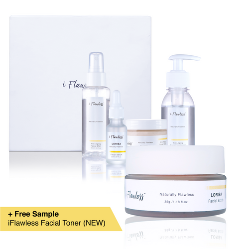 iFlawless Facial Scrub LORISA® + iFlawless Skin Care Full Set