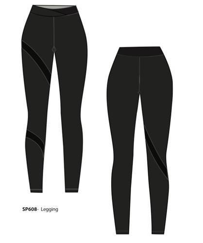 SP LONG LEGGING W/ MESH