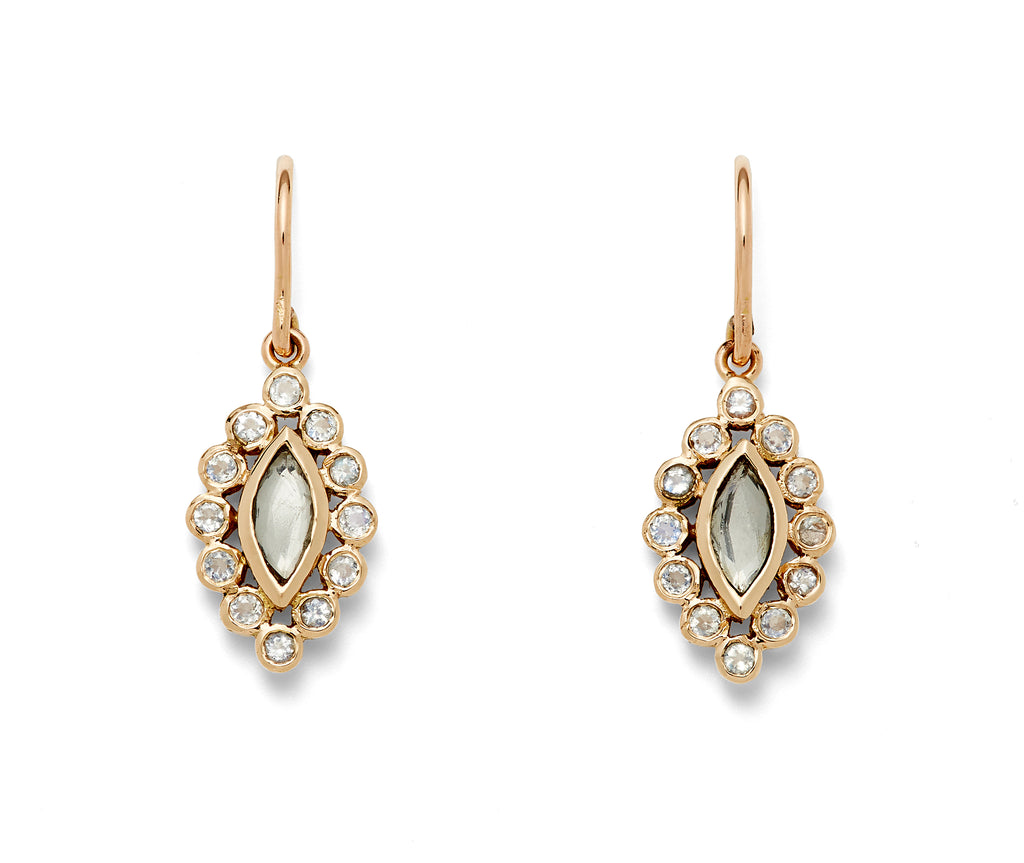 topaz and diamond marquis drop earring