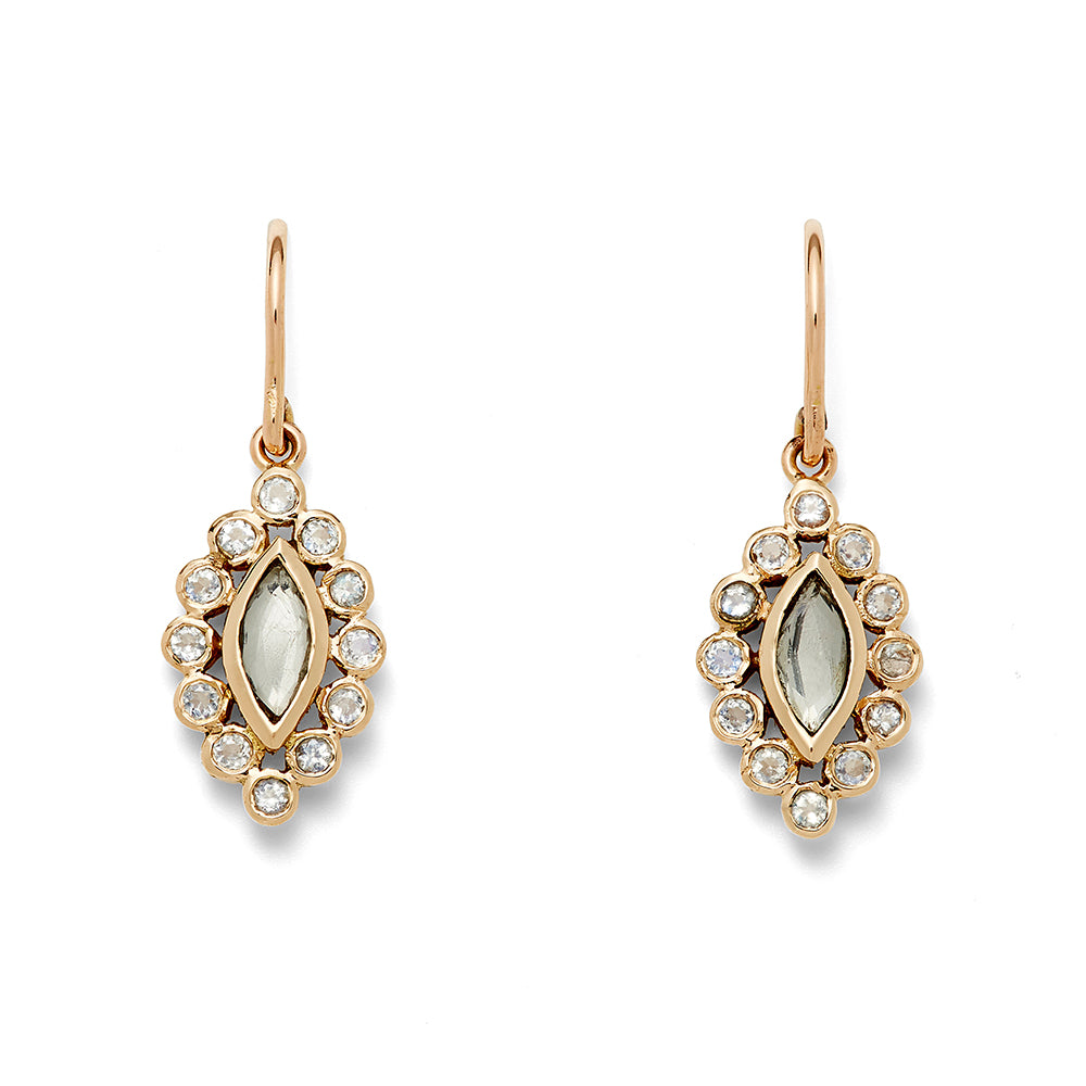 moonstone marquis drop earring
