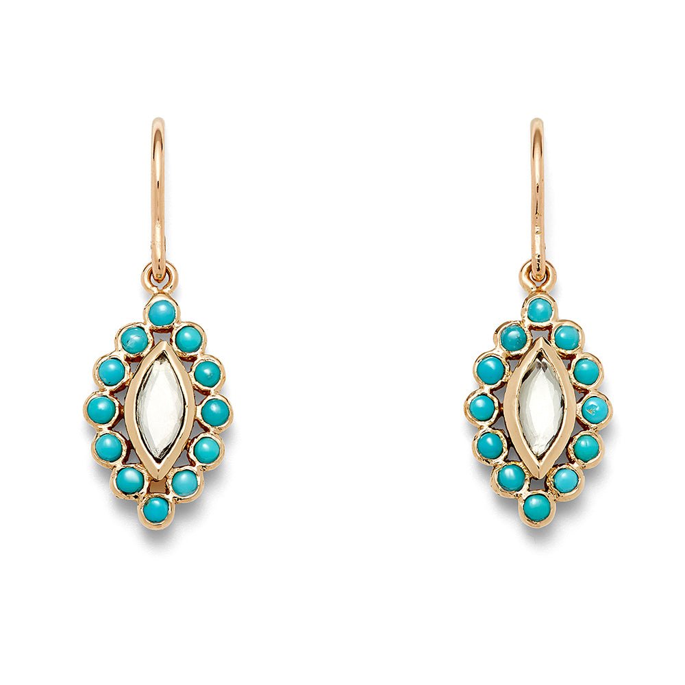 turquoise marquis drop earring