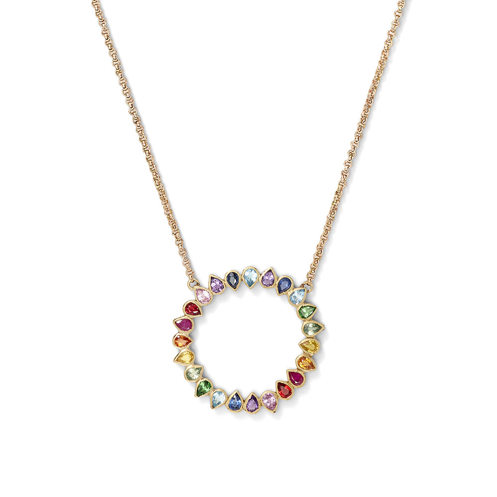rainbow open loop pendant