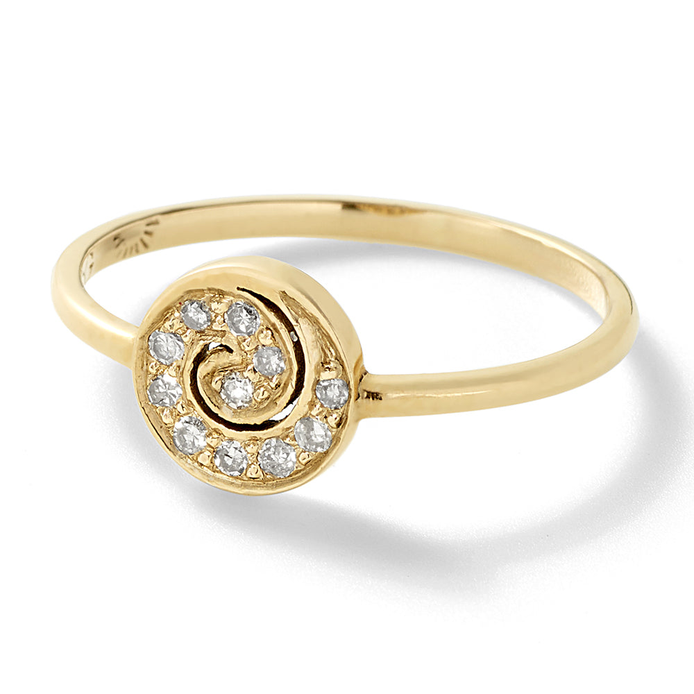 mini diamond spiral band