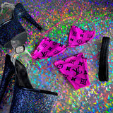 PRE-ORDER: Hot Fuchsia and Black Teeny Tiny Micro 'Kini - Golddiggers Boutique