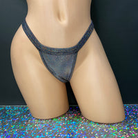 Sparkle N Glitz Elastic Band Thong - Golddiggers Boutique