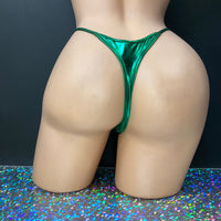 Metallic Whale-Tail Thongs - Golddiggers Boutique
