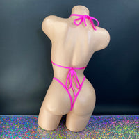 Hot Pink Lace Stoned 'Kini - Golddiggers Boutique