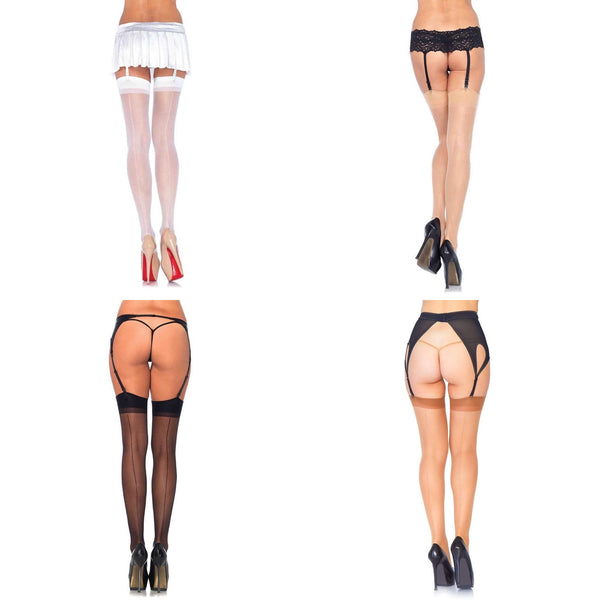 Sheer Back Seam Stockings | Various Colors - Golddiggers Boutique