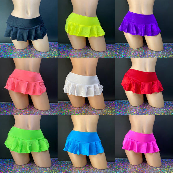 Pleated Mini Skirts - Golddiggers Boutique