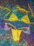 Sunshine Yellow Rain 'Kini - Golddiggers Boutique