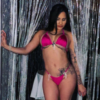 Magenta Raining Hearts 'Kini - Golddiggers Boutique