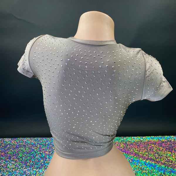 Stone Bling Crop Top - Golddiggers Boutique