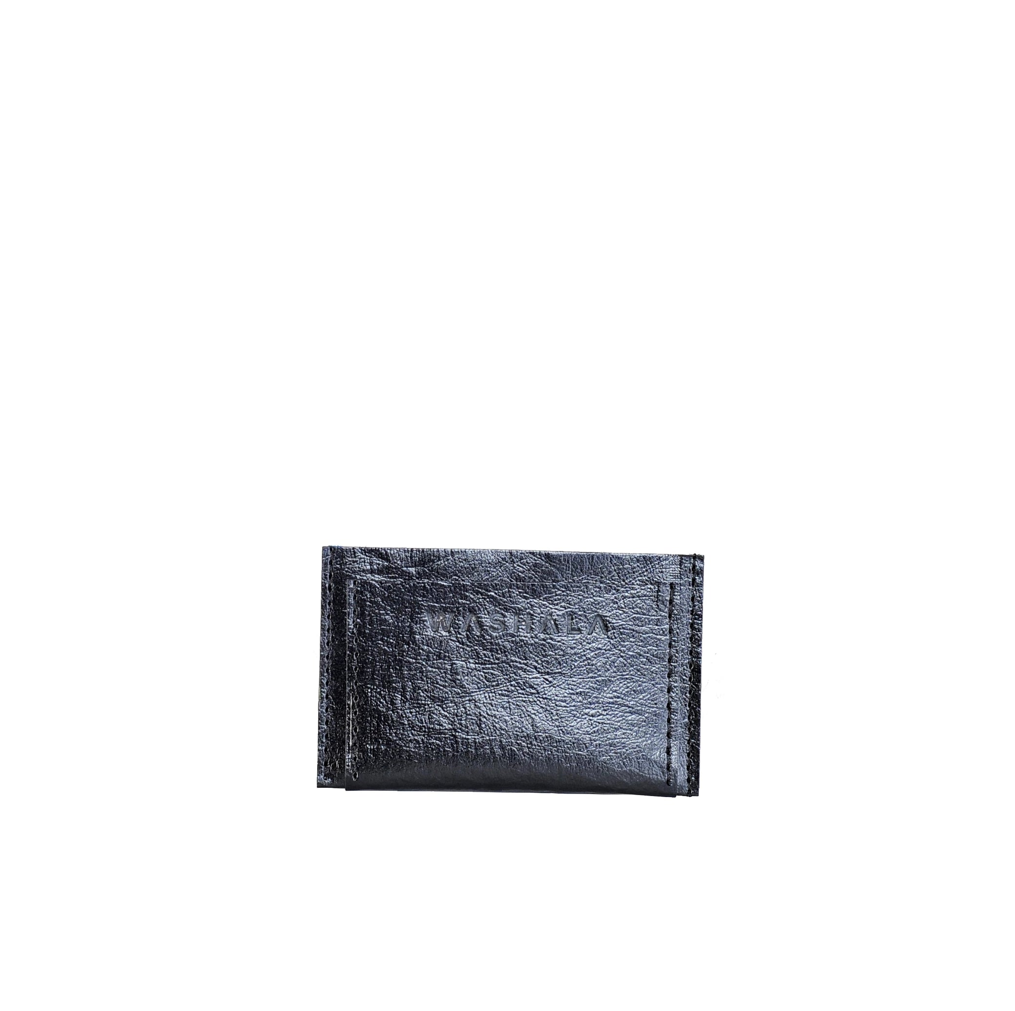 SHINY BLACK CARD HOLDER
