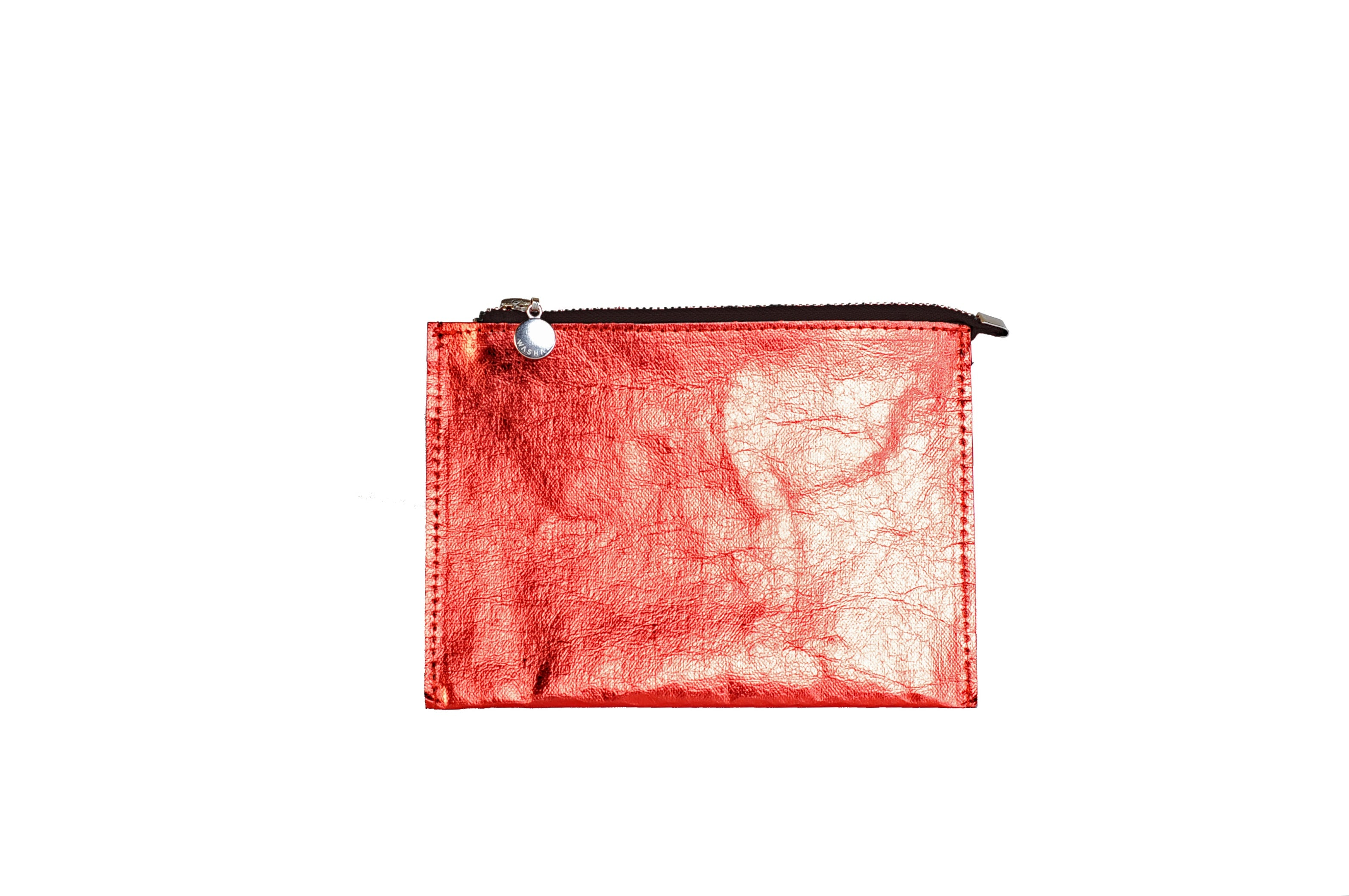 SHINY RED POUCH