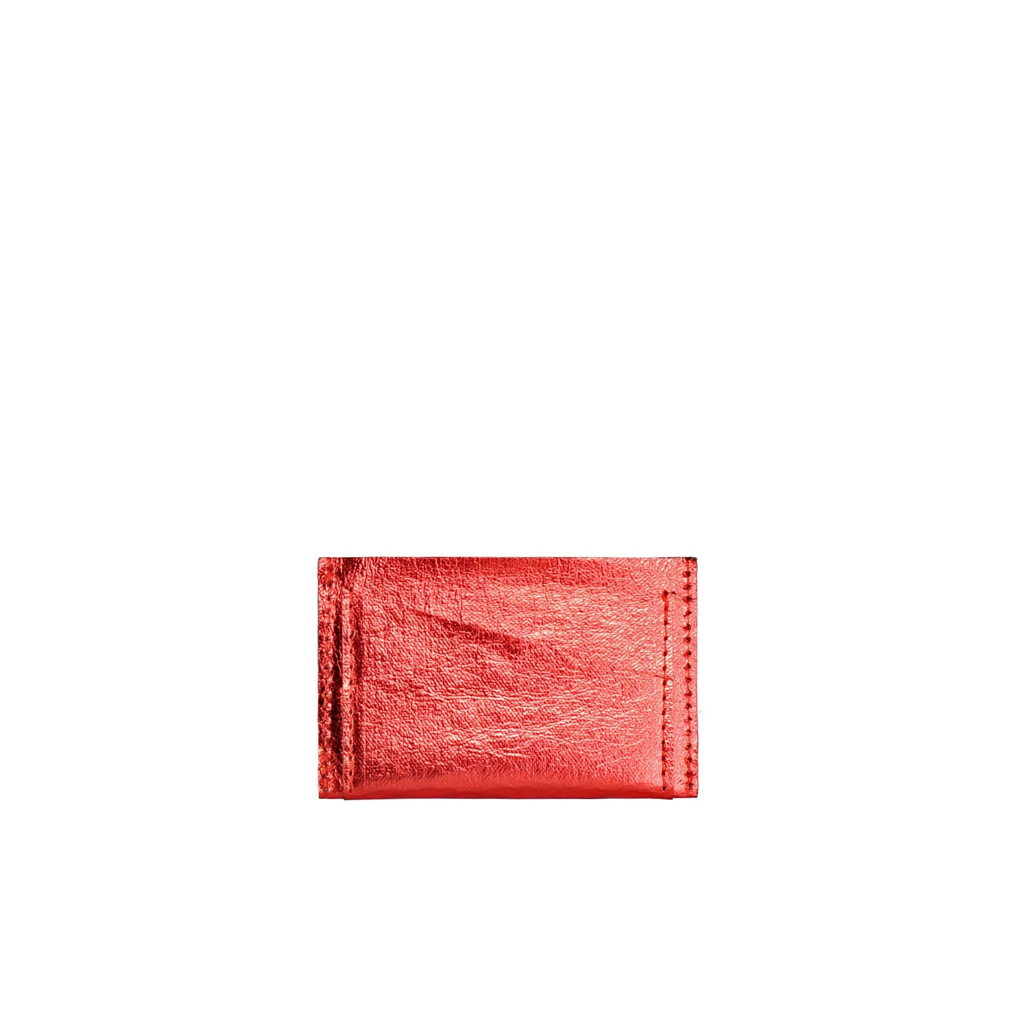 SHINY RED CARD HOLDER