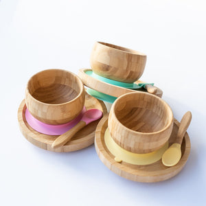 Bamboo Suction Feeding Set - Pink
