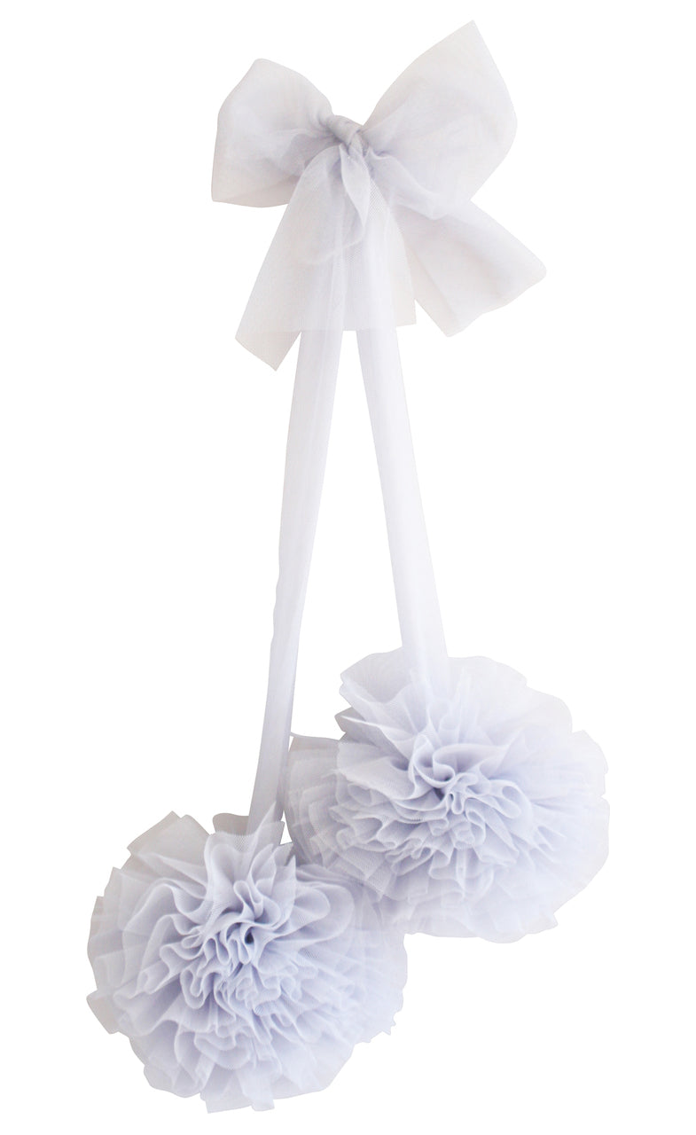 Alimrose Tulle Pom Pom Decor Set Mist