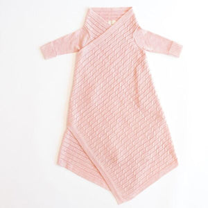 Jujo Shwrap Cable Knit Blush Pink