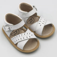 Load image into Gallery viewer, Little MaZoe's White Sandal