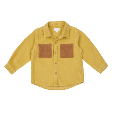 Goldie + Ace Custard Derek Cord Shirt