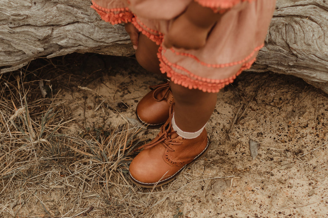 Little MaZoe's Lily Boot Brown