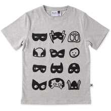Load image into Gallery viewer, Many Masks Tee - Grey Marle