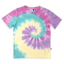 Load image into Gallery viewer, Swirly Tee - Raspberry/Teal/Lemon