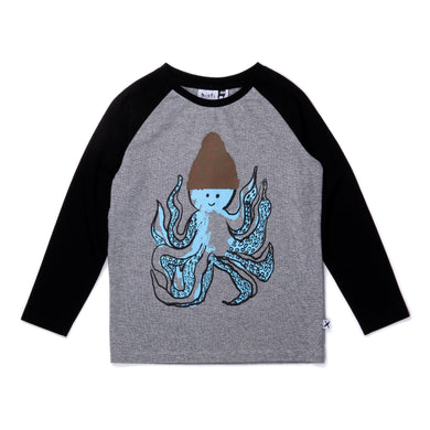 Warm Octopus Raglan Tee